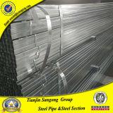 Pré tube creux en acier galvanisé plongé chaud de zingage de pipe de fer de Gavanized