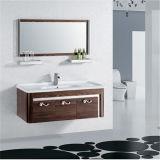 棚との簡単な壁に取り付けられた浴室の虚栄心