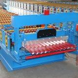 アルミニウム屋根ふきシートの波形を付ける機械