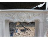 Белый камин мрамора скульптуры (SY-MF042)