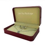 Коробка пластичных поддельный ювелирных изделий подарка кожаный бумаги Jy-Jb173 установленная