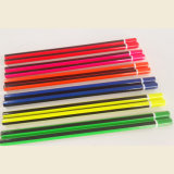 Crayons au néon avec l'enduit de piste, avec l'extrémité d'IMMERSION, HB en bois de crayon
