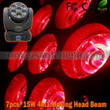 7 * 15W Disco LED fase Moving Head feixe de luz (SF-122)