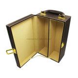 Vente en gros de caisse en vinyle en cuir portable en cuir pour cadeau