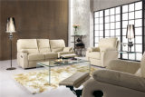 Il sofà del salone con il sofà moderno del cuoio genuino ha impostato (569)
