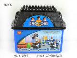 青いバケツが付いている教育DIYの警察のおもちゃの煉瓦のセット