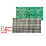 O tamanho interno dos pixéis do módulo 64X32 do indicador de diodo emissor de luz de Rg F3.75 é 304X152mm 1/16 de varredura