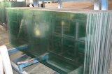 vidro Tempered da borda Polished desobstruída de 10mm para a porta do banheiro com furos da dobradiça, do parafuso e do fechamento