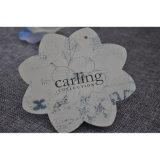 Gestempelschnittene Papppapier-Kleidung-Kennsätze für Kleid mit Blumen-Form