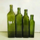 botellas de cristal verdes del aceite de oliva de 250ml 500ml 750ml 1L Marasca