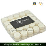 Goedkope Kaars Unscented Witte Tealight die van Chinese Fabrikant wordt gemaakt