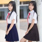 Mädchen-japanische Art-Schuluniform