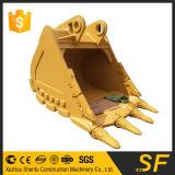 猫のバックホウの掘削機猫のバックホウ320f 352fの大きい容量の石のバケツ