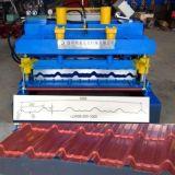 Tuile glacée par acier automatique de couleur formant la machine