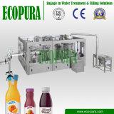 máquina de rellenar de fruta 3-in-1 de la bebida monobloque del zumo