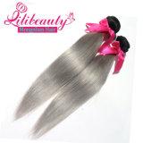 El pelo mongol de Ombre del pelo humano teje el pelo recto