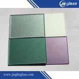 les taches métalliques de 2-6mm desserrent Splashbacks en verre de construction peint