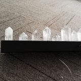 New Design Modern Black Strip Luxe pyramide égyptienne LED Rocks Crystal Chandelier