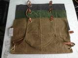 Cintas de couro genuínas enceradas resistentes feitas sob encomenda de Withcriss-Back do avental do trabalho do avental da lona