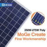 Migliore comitato solare di prezzi 250W-275W PV di Moge in azione