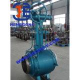 Válvulas de esfera soldadas do aço de carbono do punho do RUÍDO engrenagem industrial