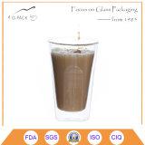 コーヒーのための二重壁のガラスコップ