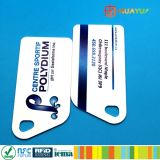 HUAYUAN Système d'adhésion à la fidélité Ntag213 NFC PVC RFID Smart Keytag Card