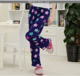 Pantalones acogedores 100% de la felpa del paño grueso y suave de la alta calidad del poliester