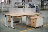 A mobília de escritório móvel do suporte 3 gavetas toma o partido gabinete