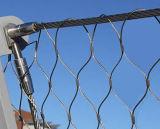 ステンレス鋼のフェルールワイヤーロープの網