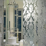 Printing modellato/Figure/Rolled /Art Shower Door Glass per Decoration