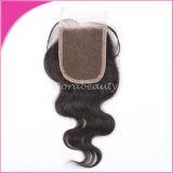 Волосы девственницы объемной волны закрытия шнурка волос самого лучшего высокого качества волос пачек вспомогательного индийские