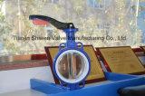 Valvola a farfalla della cialda di Pinless del disco di CF8/Di con la maniglia di alluminio