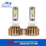 Farol fácil leve principal dourado do farol H7 da conversão do diodo emissor de luz da instalação G3 para o carro