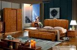 Hölzernes Hotel-Bett, bestes Schlafzimmer-Möbel-Set, China-Bett (828)
