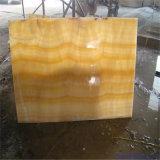黄色い蜂蜜のオニックス大理石、孔雀のヒスイの大理石の平板
