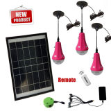 Novo design Solar Home Light Product Solar Recharge LED lanterna com painel solar para o rural