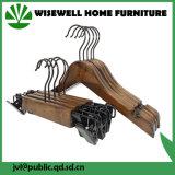 Ganci di legno dei pantaloni dei capretti con 2 clip (WHG-A08)