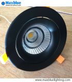 35W Elegant Black Housing 크리 말 COB LED Ceiling Downlight
