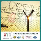 Het Hoogste Prikkeldraad van uitstekende kwaliteit van de Omheining van de Link van /Chain van de Omheining van de Luchthaven
