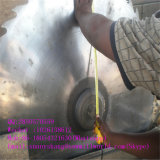 Le premier bois de construction de pente coupant la circulaire a vu avec le transport