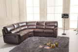 Самомоднейшая угловойая кожаный кровать софы