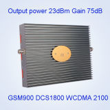 Répéteur mobile de GM/M de servocommande de signal de DCS de la tri bande 900&1800&3G/2100MHz 17dB GM/M