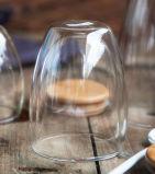 taza de cristal hecha a mano del vidrio de la pared del doble de la taza de la pared doble 450ml