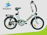 La bicyclette pliable électrique la plus neuve 36V 10ah EL-Dn2002z de l'alliage 2017 d'aluminium