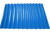 0.14-0.8mmのカラーによって塗られる電流を通された波形の鋼鉄屋根ふきシート