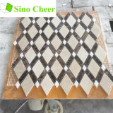Mattonelle di mosaico di marmo scure Mixed di Crema Marfil Emperador Brown