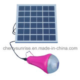La petite opération solaire en gros allume le chargeur mobile breveté extérieur d'USB arrêtant les lumières solaires avec 2 ampoules