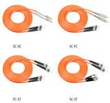 Cuerda de corrección de la fibra milímetro Sc/St/FC/LC a dos caras