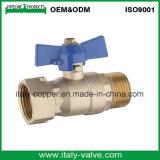 Personalizado de cobre amarillo de la válvula de bola de gas forjado (AV1060)
